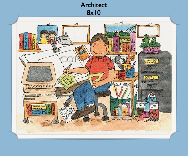 Personalized Architect Gift Cartoon Personalized Gifts